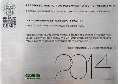 Reconhecimento por desempenho de fornecimento (2014)