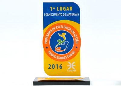 1º Lugar - Programa de Excelência em Gestão Fornecedores Cemar (2016)