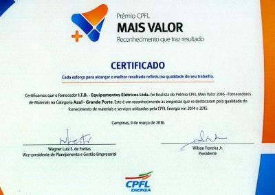 Finalista - Prêmio CPFL Mais Valor (2016)