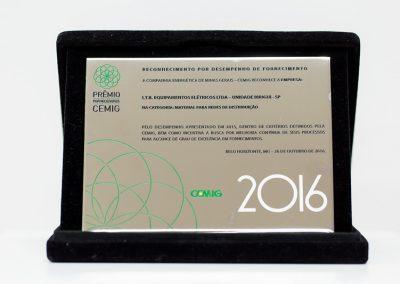 Reconhecimento por desempenho de fornecimento (2016)