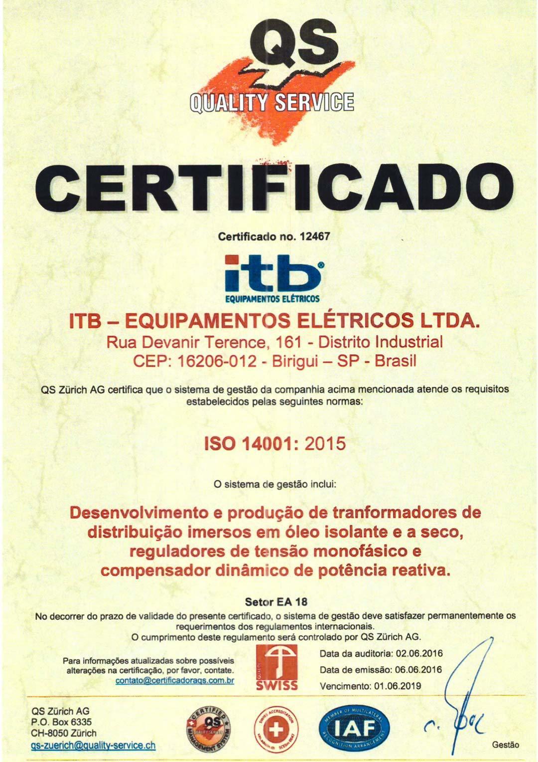 certificado-iso-14001-itb-transformadores