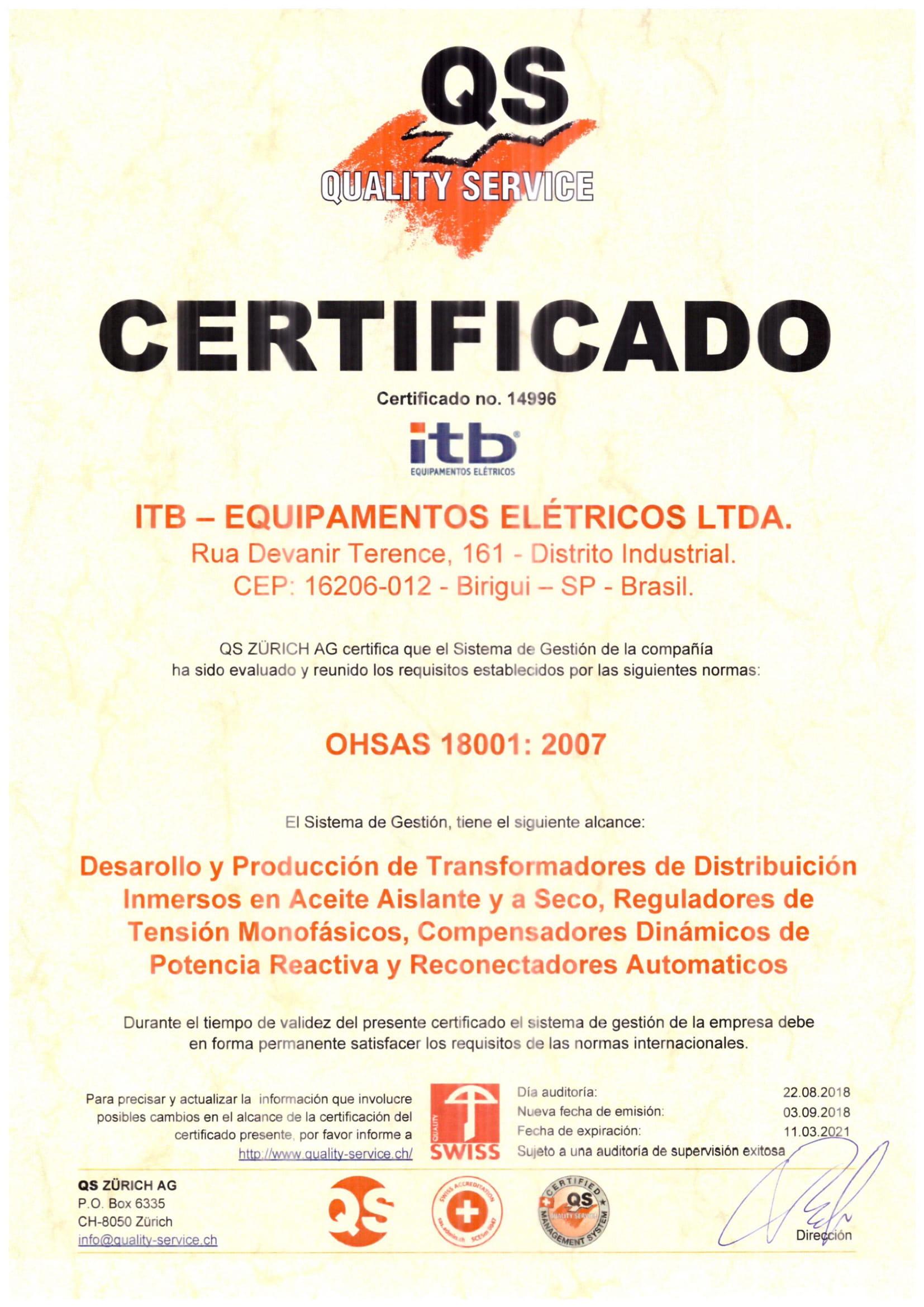 certificado-ohsas-18001-itb-transformadores