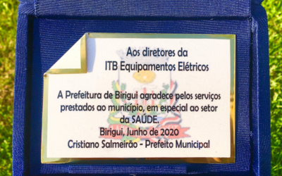 ITB RECEIVES PLATE OF ACKNOWLEDGMENT FROM THE CITY OF BIRIGUI