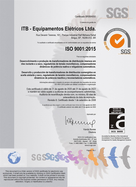 certificado-iso-9001-itb-transformadores