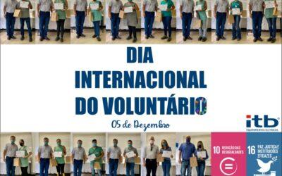 Dia Internacional do Voluntário é comemorado com homenagem aos colaboradores