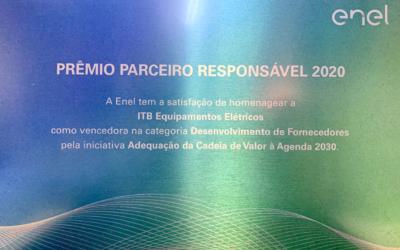 Reconhecimento: Prêmio Parceiro Responsável ENEL 2020